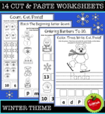 14 Winter Cut And Paste Worksheets