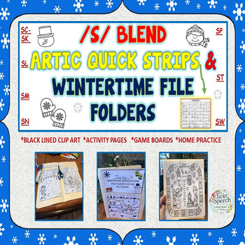 Wintertime /S/ Blend File Folders With Quick Strip Articulation Strips