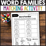 Word Families Kindergarten, Word Family Cut and Paste
