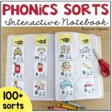 Phonics Word Work Sorts Interactive Notebook