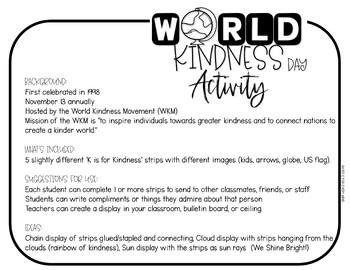 World Kindness Day Strips   R.A.K   Kindness Activity