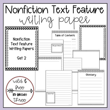 Writing Paper with Nonfiction Text Features