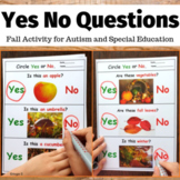 Fall Activity - Yes No Questions for Special Education