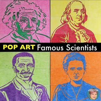 Famous Scientists - Collaboration Portrait Posters BUNDLE - Great for STEM
