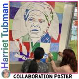Harriet Tubman Collaboration Portrait Poster - Women's History Month Activity