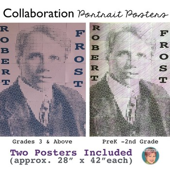 Robert Frost - Collaboration Portrait Poster