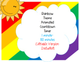 Animated Editable Timers Rainbow Theme