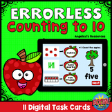 Errorless Apple Theme Boom Cards™ -Counting to 10-Ten Fram