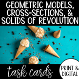Geometric Modeling, Cross Sections, & Solids of Revolution