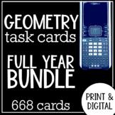 Geometry Task Cards Full Year Bundle
