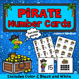 Pirates Theme : Counting Cards - Numbers 1-20 - Number Sense - Ten Frames