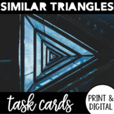 Similar Triangles and Proofs Task Cards | AA, SAS, SSS