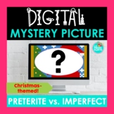 Spanish Christmas Activity Preterite vs. Imperfect Digital Mystery Picture