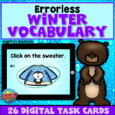 Errorless Learning Winter Vocabulary Boom Cards™ - ABA - A