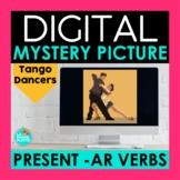 Present AR Verbs Digital Mystery Picture | Tango Dancers P