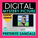 Preterite Sandal Verbs Digital Mystery Picture | Spanish Pixel Art