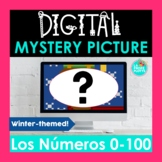 Spanish Numbers 0-100 Digital Mystery Picture   Winter