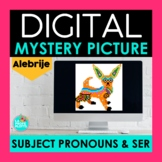 Spanish Subject Pronouns and SER Digital Mystery Picture  