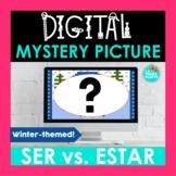 SER vs ESTAR Spanish Digital Mystery Picture   Winter-themed