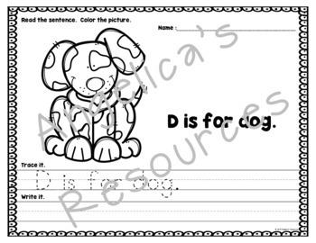 Alphabet Worksheets: Handwriting Worksheets - Sight Word Worksheets - Tracing