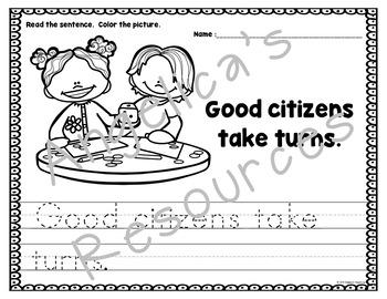 Being a Good Citizen at School : Sight Words, Sentence Structure, Citizenship