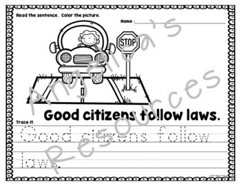 Good Citizenship Activities: Being a Good Citizen in the Community