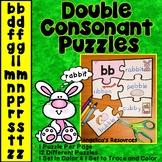 Double Consonant Puzzles: Literacy Center Activities -Sort, Read, Spell, Create