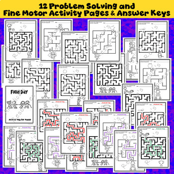 End of the Year Activities : Field Day Mazes - Problem Solving-Fine Motor Skills
