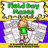 End of the Year Activities: Mazes Problem Solving Worksheets - Printables