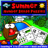 End of the Year Activities : Number Tracing - Summer Theme - Counting Numbers
