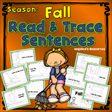 Fall Activities : Simple Sentence Tracing and Tracing Pictures - Sight Words