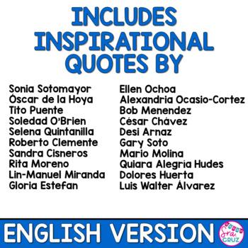 Hispanic Heritage Month Quotes ENGLISH VERSION