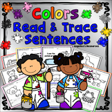 Learning Colors : Sight Words, Sentence Tracing, Handwriting, Just Print & Go