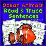 Ocean Animals: Handwriting Worksheets Sight Words in Sentences Tracing