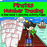 Pirates Theme: Number Tracing - Fine Motor Skills - Counting Numbers