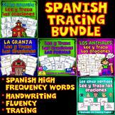 SPANISH TRACING BUNDLE : 5 Sentidos, La granja, Los animales, Las formas