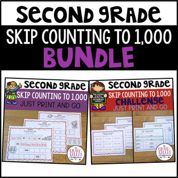 skip counting to 1 000 bundle by a grace filled classroom tpt. Black Bedroom Furniture Sets. Home Design Ideas