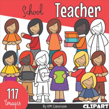 Teacher School Clipart By Km Classroom Teachers Pay Teachers