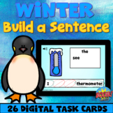 Winter Sentence Scramble Boom Cards™ Unscramble the Senten