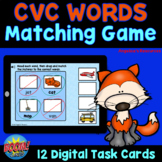CVC Words Matching Game Boom Cards™- Distance Learning - A