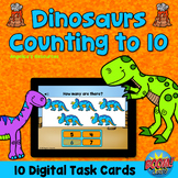 Counting to 10 Boom Cards™: Dinosaur Theme Distance Learni