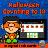 Halloween Counting to 10 Boom Cards™ -Distance Learning- D