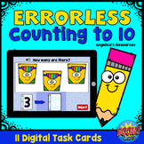 Errorless Counting to 10 Boom Cards™- Distance Learning -A