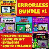 Errorless Learning Boom Cards™ Bundle #1: Distance Learnin