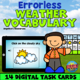 Errorless Learning Weather Theme Boom Cards™-ABA Therapy -