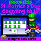 Errorless Learning St. Patrick's Day Math Boom Cards™-Coun