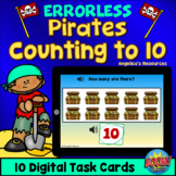 Errorless Learning Pirates Math Boom Cards™ Counting to 10