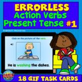 50% OFF for 24HRS -Errorless Present Tense Verbs Boom Card