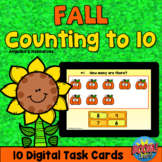 Fall Theme Counting 1-10 Boom Cards™ - Counting to 10 - AB