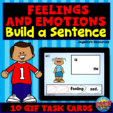 Feelings and Emotions Sentence Scramble Boom Cards™ - Dist